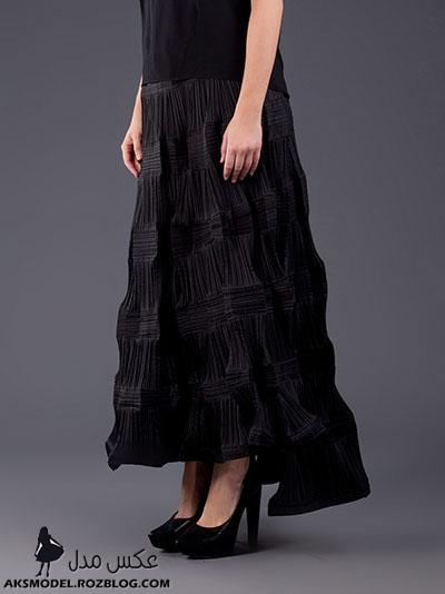مدل دامن بلند مجلسی زنانه