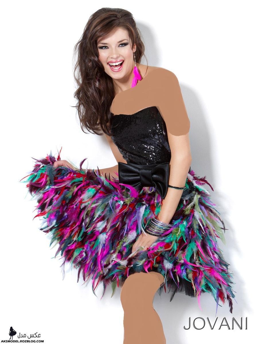 مدل های جدید لباس مجلسی کوتاه دخترانه 2014