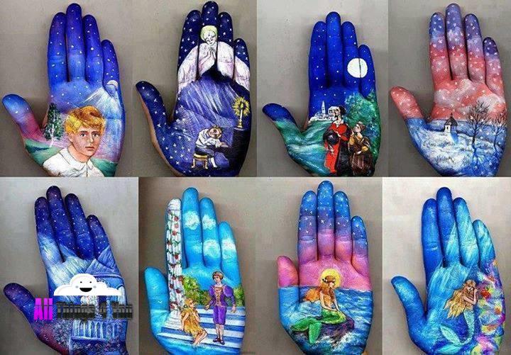 نقاشی روی دست !