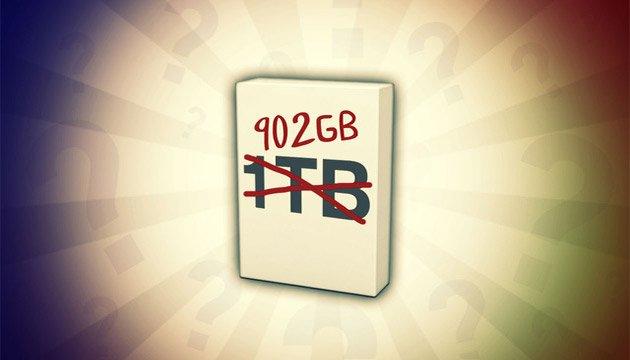 چرا دیسکهای سخت حجم کمتری را نسبت به اندازه نامی خود نشان میدهد؟