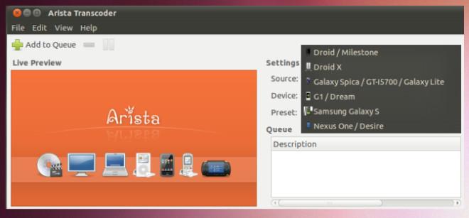 Arista Transcoder یک تبدیل کننده همه فن حریف ویدیو برای اوبونتو