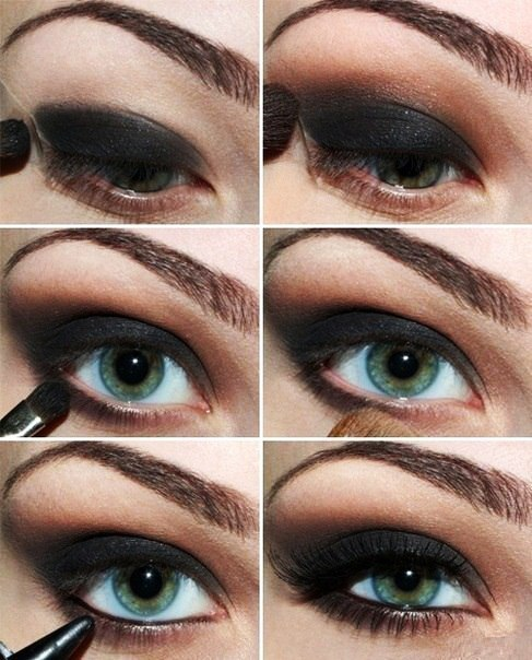 آموزش تصویری آرایش چشم زیبا و شیک