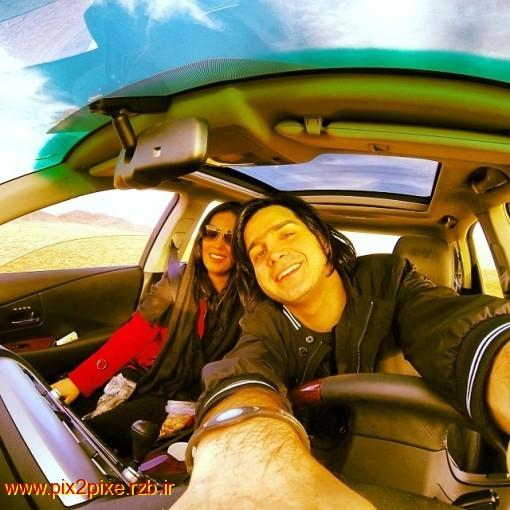 تصویرمحسن یگانه و همسرش !
