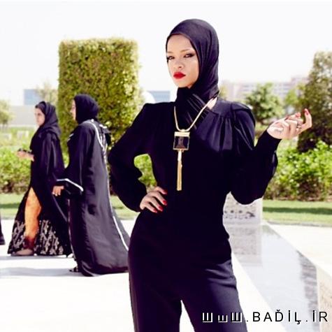 حرکت جالب ریحانا در امارات +عکس