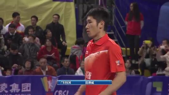 بازی Tian Houwei vs Lin Dan در مسابقات سوپر لیگ چین 2013