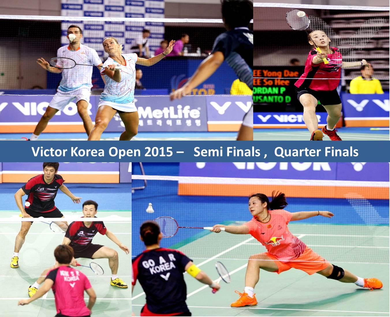 دانلود نیمه نهایی و یک چهارم نهایی مسابقات بدمیتون Victor Korea Open 2015