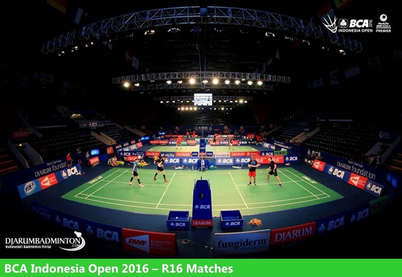 بازی های روز چهارم مسابقات بدمینتون آزاد اندونزی 2016