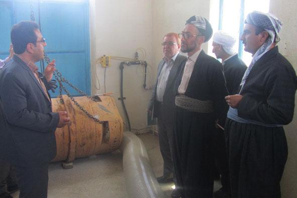 بازدید روحانیون از نحوه تامین آب دیواندره