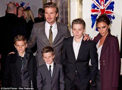 دیوید بکهام و خانواده اش