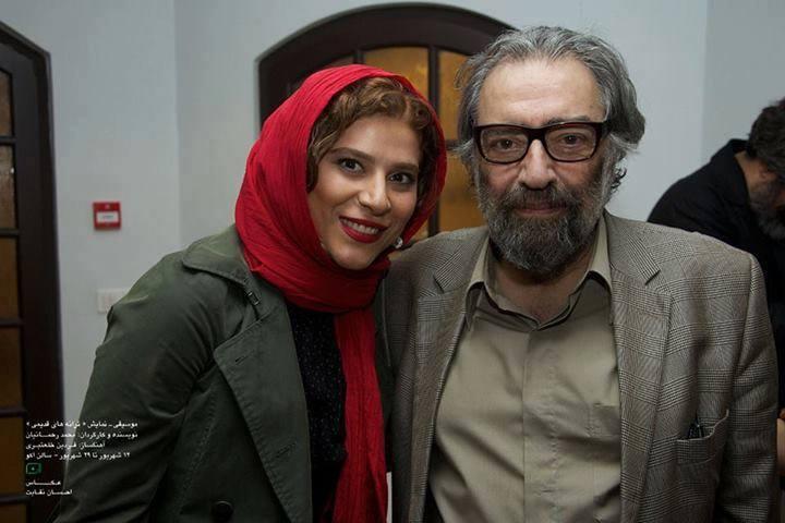 مسعود کیمیایی در کنار سحر دولتشاهی