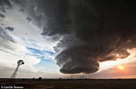 زیباترین ابرهای ترسناک!