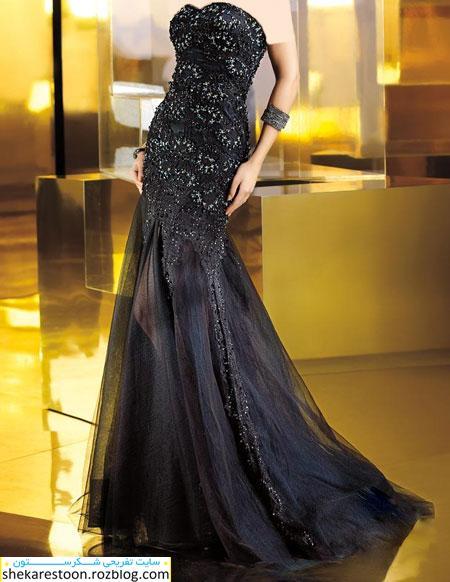 مدل لباس شب مشکی 2014