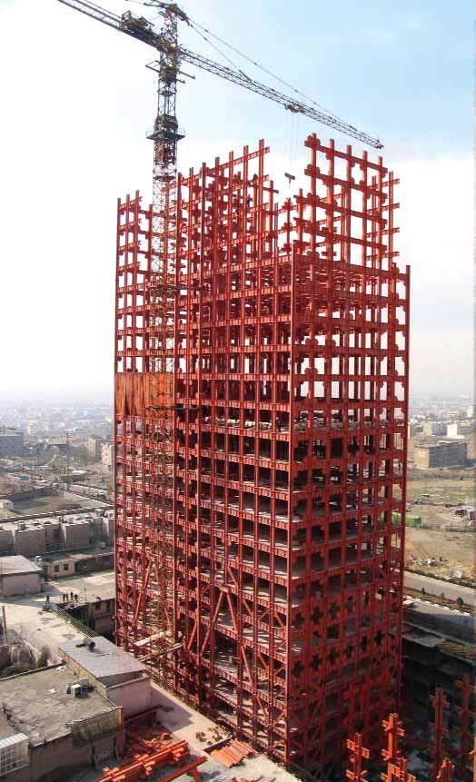 دانلود انیمیشن ساخت سازه ی اسکلت فلزی