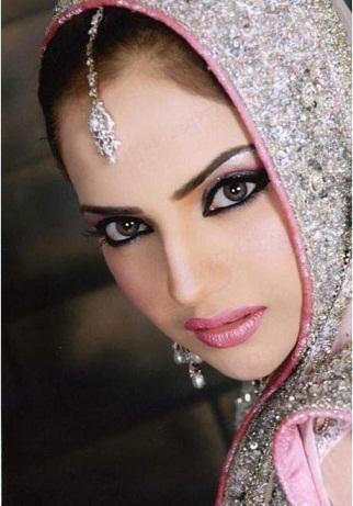 مدل آرایش عروس به سبک هندی - 2014