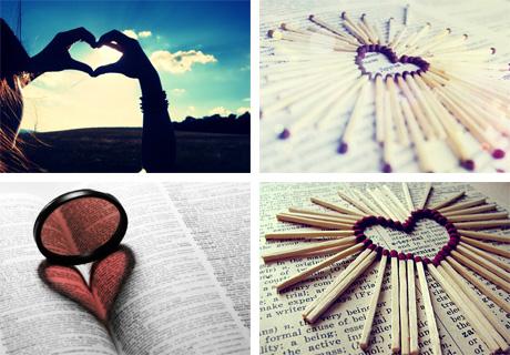 عاشقانه ترین عکس ها با موصوع قلب
