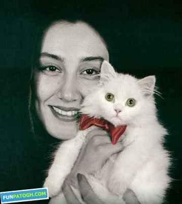 عکس هدیه تهرانی و گربه ی نازش | WwW.BestBaz.RzB.Ir