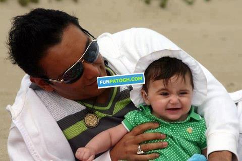 عکس شادمهر عقیلی و پسر کوچیکش | WwW.BestBaz.RozBlog.Com