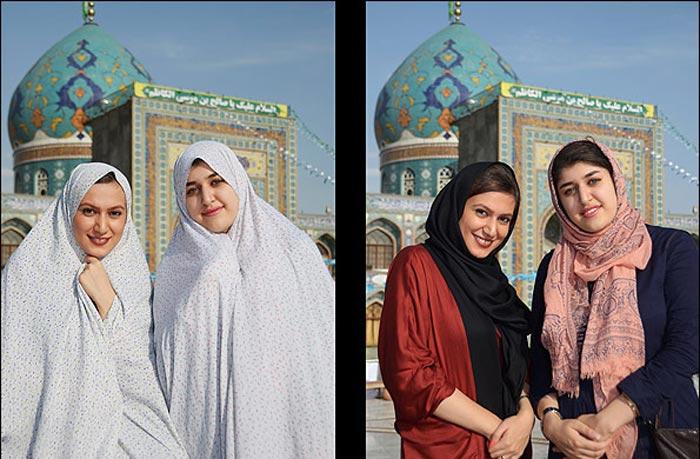 حجاب قبل و بعد از ورود