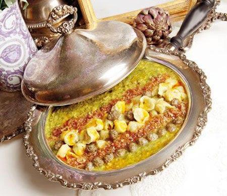 دستور پخت آش مانتی مخصوص افطار