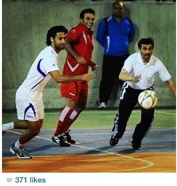 عکسی که احمدینژاد منتشر کرد/ کورس با اسطوره استقلال!