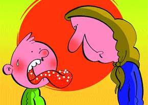برفک دهان نوزاد علت و راه درمان؟