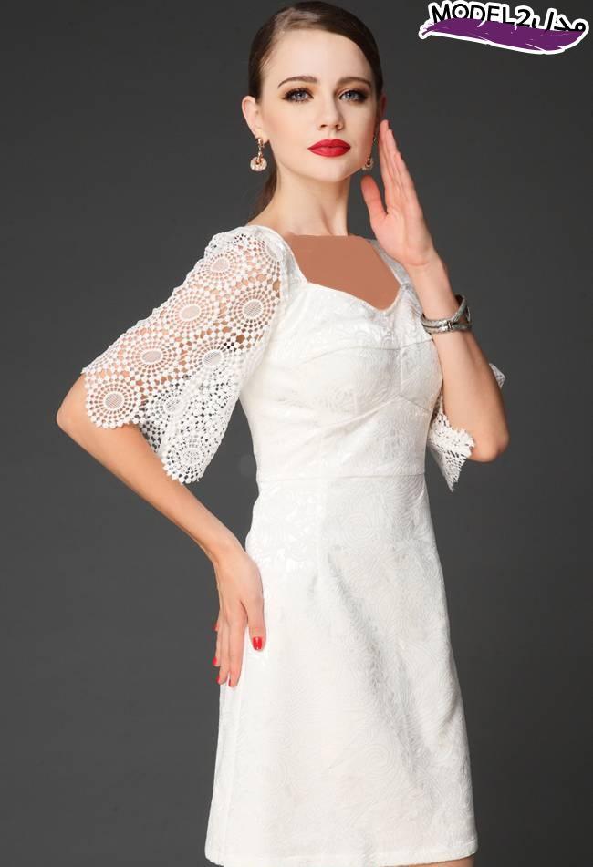 مدل لباس کوتاه مجلسی سفید 2016