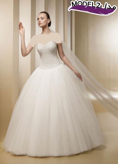 مدل لباس عروس پرنسسی اروپایی 2016