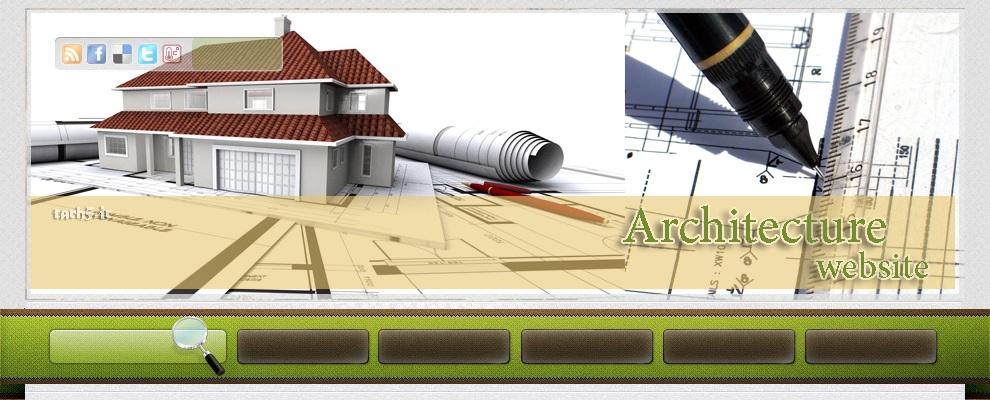 هدر قالب شماره پنج معماری
