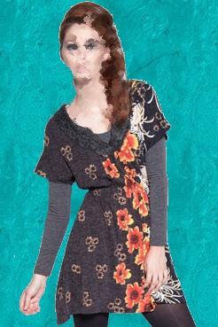 مدل تونیک بلند دخترانه لاغر اندام