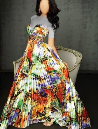 جديدترين مدلهاي لباس مجلسي بلند و گلدار زنانه