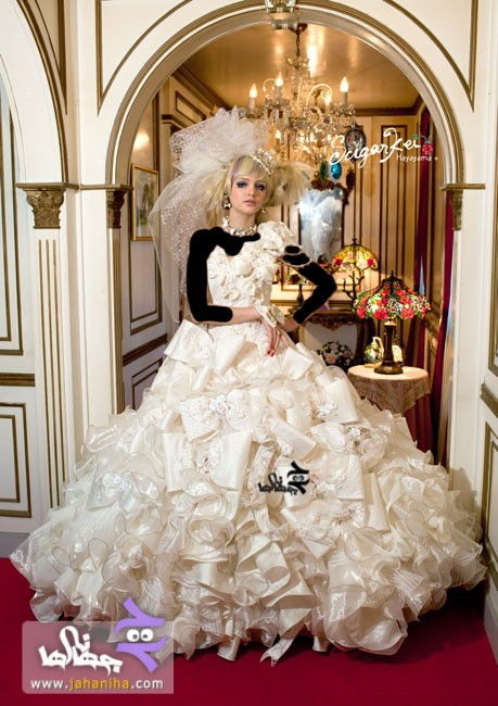 جديدترين مدل لباس عروس پف دار پفي طرح 2013