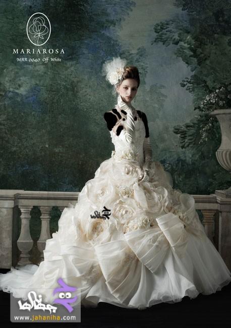 جدیدترین مدل لباس عروس پف دار پفی طرح 2013