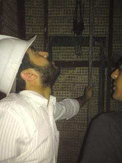 بازدید کارآموزان از پروسه نصب آسانسور ۱