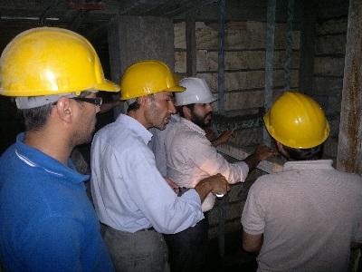 بازدید از پروژه نصب ریل و درب آسانسور
