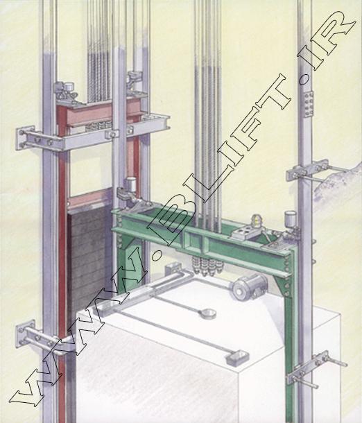 کابین آسانسور و متعلقات آن و نحوه اتصال سیم بکسل ها در سیستم ۱:۱