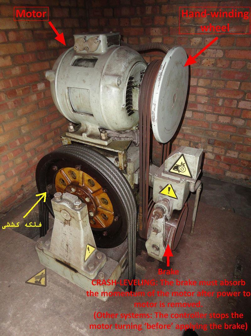 اجزاء موتور آسانسور