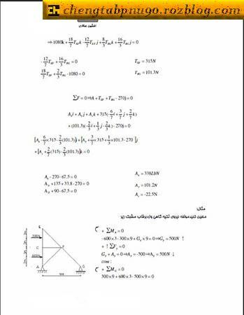 جزوه استاتیک برای رشته های فنی مهندسی