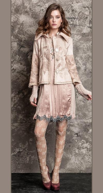 لباس مجلسی زنانه دامن کوتاه با جوراب شلواری زیبا