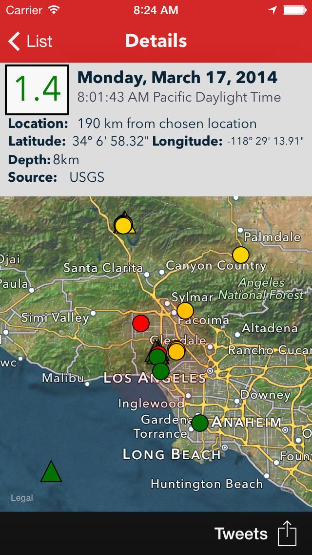 دانلود نرم افزار زلزله نگار برای اندروید و IOS