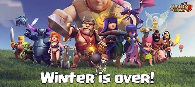 پایان ویژگی های زمستان + دانلود آخرین نسخه بازی کلش اف کلنز 6.407.8