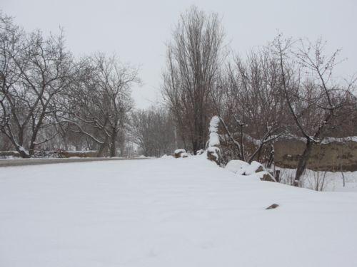اولین برف روستای گل آباد 1391