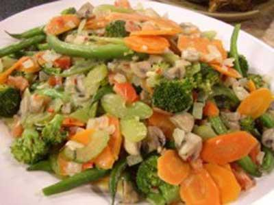 آشپزی : طرز تهیه خوراک سبزی های مخلوط