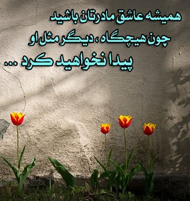 عکس نوشته : مادر