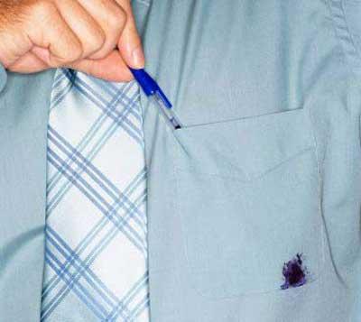 تمیز کردن جوهر از روی لباس