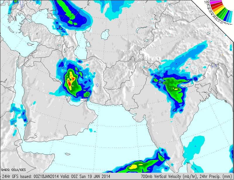 تصویر ماهواره ای بارندگی در دشتستان
