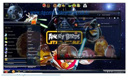 دانلود اسکین پک Angry Birds StarWars Skin Pack – ویندوز ۷