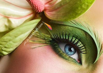 گلچینی از مدل های زیبای آرایش چشم به رنگ سال 92