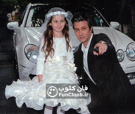 تصویر عروس زیبا در آغوش شاهرخ استخری!!