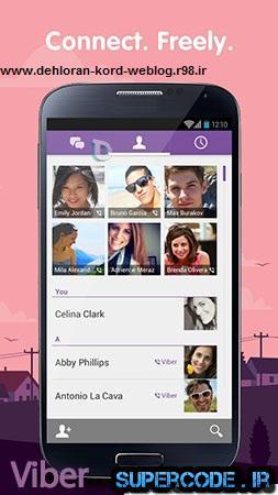 دانلود  ارتباط رایگان متنی و صوتی با دوستانتان توسط Viber 4.0.12 – اندروید