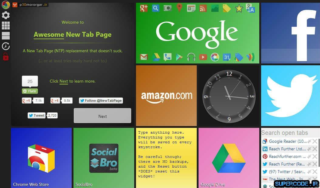 گوگل کروم خود را با دانلود افزونه ANTP به ویندوز 8 تبدیل کنید
